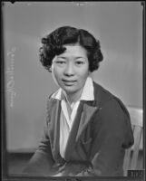 Tomiko Okura before leaving the United States to work abroad, Los Angeles, 1935