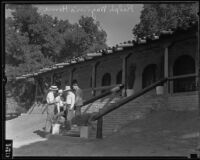 Dr. Ralph Wagner with son Ernie Wagner and others at the Wagner Ranch, Santa Clarita, 1935