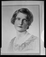 Baroness Alexander von Mauch, a portrait, (1933 photograph) 1935 copy print