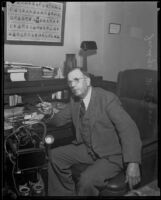 Judge Westover in his office, Los Angeles, 1928-1939