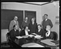 Board of Education meeting, Los Angeles, 1935