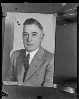 Copy print of portrait of Stewart O. Mertz, Los Angeles, 1920-1933