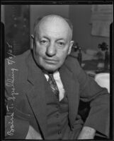 Baird T. Spalding, lecturer and author, Los Angeles, 1935