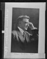 Copy print of a portrait of William Davidson, Los Angeles, 1935
