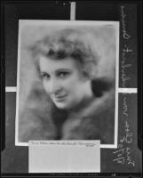 Copy print of a portrait of Mrs. Elsa von Sendenhorst-Bauwens, 1935