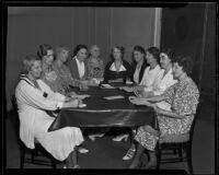 Euterpe Opera Reading Club Executive Board meeting at the Biltmore Hotel, Los Angeles, 1935