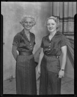 Roberta Cooper and Jane Frances Mullen, 1935