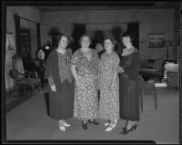 Mrs. Brett, Mrs. Frankel, Mrs. Fears, and Mrs. Bonynge of the Friday Morning Club, 1935