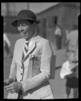 Mrs. Horace W. Rupp with a wide grin, Santa Barbara, 1935
