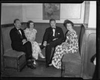 Mr. & Mrs. Chancellor and Mr. & Mrs. Noble at the Junior League Ball, The Biltmore, Santa Barbara, 1935