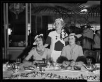 Princess Nina Schervashidze, Exa Link, and Mary McConnell of the Women's Breakfast Bridge Club, 1935
