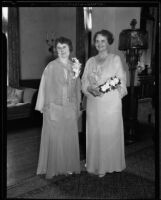 Retiring president Anna May Dunlap and incoming president Mrs. Charles D. Hill, Los Angeles County, 1935