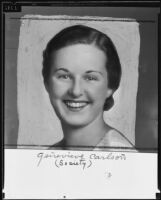 Genevieve Carlson announces engagement, Belmont Heights, 1935