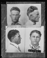 Mugshots of Jack Rhodes and James Pivaroff, Los Angeles, 1935