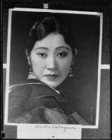 Tomiko Kanazawa, opera singer, (copy photograph) circa 1935-1939