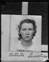 Ann Lewis is sentenced to jail for carrying concealed weapons, Los Angeles, 1935