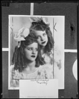 Child performers Marilyn and Carolyn Crumley, Los Angeles, 1935