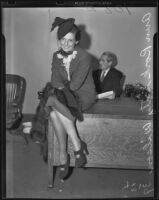 Helen Ann Rork-Getty petitions for divorce, Los Angeles, 1938