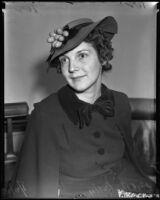 Helen Ann Rork-Getty contests her divorce, Los Angeles, 1938