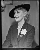 Jayne Manners seeks alimony from ex-husband Maurice L. Kusell, Los Angeles, 1935