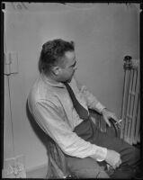 Joseph L. Van Doren is arrested for stealing film negatives, Hollywood, 1935