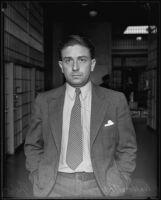 Walter Toner is arrested for stealing film negatives, Hollywood, 1935