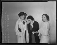 Frances Beattie, Mrs. M. H. Snortland, and Dorothy Bell, Los Angeles, 1935