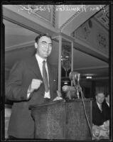 Hamilton Fish, Jr. makes a speech, Los Angeles, 1935
