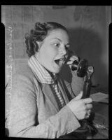 Barbara Schuble, who testified against burgler Walter Deutsch, Los Angeles, 1935