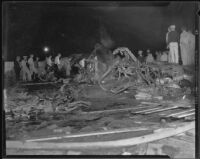 Wreckage of Western Air Express crash, Burbank, 1935
