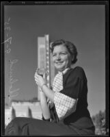 Norma Sholund at the California Pacific International Exposition, San Diego, 1935