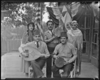 Syrian-Americans celebrate during annual festival at the Riverside Breakfast Club, Riverside, 1935