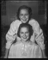 "Ruth and Naomi Stevenson of San Diego, chosen ""Miss Presidents"", San Diego, 1935"