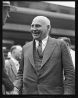 Governor Frank F. Merriam at the California Pacific International Exposition, San Diego, 1935