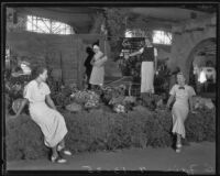 Women featured with the exhibit for Escondido at the Los Angeles County Fair, Pomona, 1935