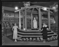 Women with an exhibit at the Los Angeles County Fair, Pomona, 1935