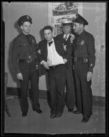Officer Kritser, det. Lt. Joe Filkas, Donald Rothrock, and Officer Landers, Los Angeles, 1935