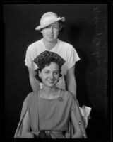 Nancy Carter Landis and Jean Burt, to appear in Constitution Day Pageant, Los Angeles, 1935
