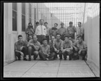 Arthur B. Crane and his students at Riverside County Jail, Riverside, 1935
