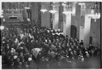 Edward Laurence Doheny funeral procession at St. Vincent de Paul Church, Los Angeles, 1935