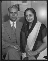 Major and Mrs. Sohan L. Bhatia visiting from Bombay, 1935