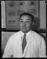 Dr. Ajika Amano, president of the Los Angeles Japanese Hospital, Los Angeles, 1935