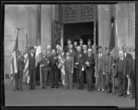 Representatives memorialize the death of Queen Astrid at St. Vibiana's Cathedral, Los Angeles, 1935