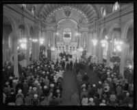 Memorial service for Queen Astrid at St. Vibiana's Cathedral, 1935