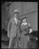 Mr. Kalmus, co-founder of Technicolor, and Mrs. Kalmus, color director for Technicolor films