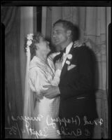 Fred Happy Meyers and former Ann Campbell at their wedding at the San Diego Expo, 1935