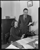 Roy S. Stockton and Hazel Elliott, 1935