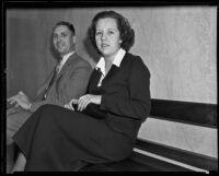 Patricia Divenney, witness for Earl W. Taylor trial, Los Angeles, 1935