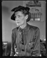 Mrs. Barney Rider, former wife of William Keith Rider, 1935