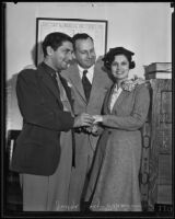 Judge Benjamin Scheinman marries Bobby Burns Berman and Betty Jane Hardesty, Los Angeles, 1935